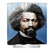 Frederick Douglass Painting In Color  Shower Curtain