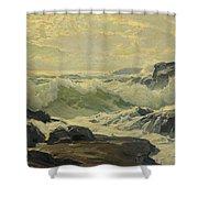 Frederick Judd Waugh 1861   1940 Coast Of Maine Shower Curtain