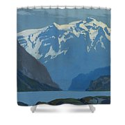 Frederick Judd Waugh  American  1861 1940  Northwest Coast Shower Curtain