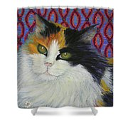 Fred's Cat Shower Curtain