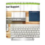Free And Fast Quicken Customer Support Phone Number @ 1-844-894-7054 Shower Curtain