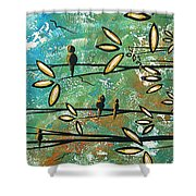 Free As A Bird By Madart Shower Curtain