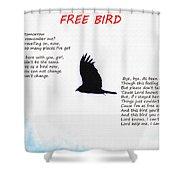 Free Bird Shower Curtain
