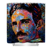 Free Energy Nikola Tesla Shower Curtain