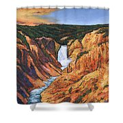 Free Falling Shower Curtain