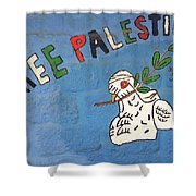 Free Palestine Peace Shower Curtain