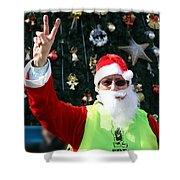 Free Palestine Santa Shower Curtain