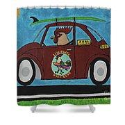 Free Range Bug Shower Curtain