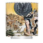 Free Silver Cartoon, 1890 Shower Curtain