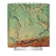 Topographical Map Of Germany.Free State Of Bavaria Germany 3d Render Topographic Map Border Tote