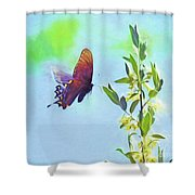 Free To Fly - Butterfly In Flight Shower Curtain
