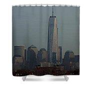 Freedom And Ellis Island Shower Curtain