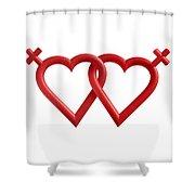 Freedom Love Shower Curtain