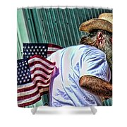Freedom Man Shower Curtain