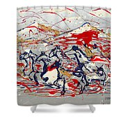 Freedom On The Open Range Shower Curtain by J R Seymour