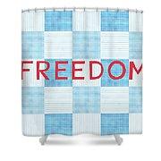 Freedom Patchwork Shower Curtain