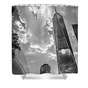 Freedom Tower Bw Shower Curtain