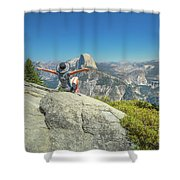 Freedom Woman At Glacier Point Shower Curtain