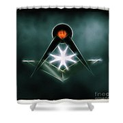 Freemason Symbol By Raphael Terra Shower Curtain