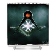 Freemason Symbol By Raphael Terra Shower Curtain