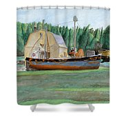 Freeport Fishing Boat Shower Curtain