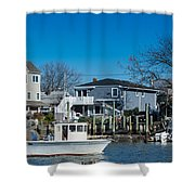 Freeport New York Bound For The Bay Shower Curtain