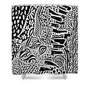 Freestyle 3 Abstract Shower Curtain