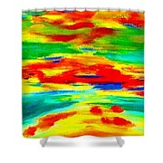 Freestyle Abstract Shower Curtain