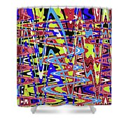 Freeway Of Colors Abstract Shower Curtain