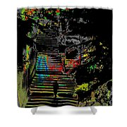 Freeway Park Steps Shower Curtain