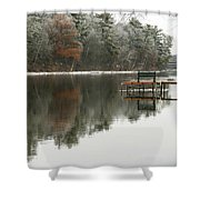 Freezing Fog Shower Curtain