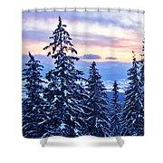 Freezing Sunset 14 Shower Curtain