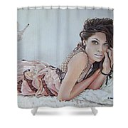 Freida Pinto Shower Curtain