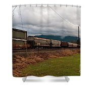 Freight Rain Shower Curtain