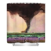 Freight Train A Comin Shower Curtain