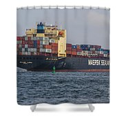 Freighter Headed Out To Sea Shower Curtain