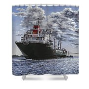 Freighter Inviken Shower Curtain