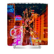 Fremont Street For One From The Heart Shower Curtain