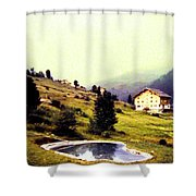 French Alps 1955 Shower Curtain