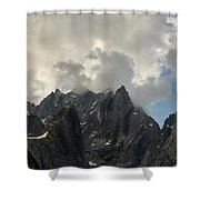 French Alps Peaks Shower Curtain