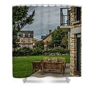 French Architecture Shower Curtain