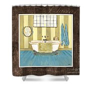 French Bath 2 Shower Curtain