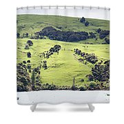 French Bay Panorama Shower Curtain