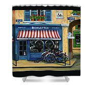 French Bicycle Shop Shower Curtain