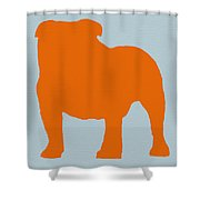 French Bulldog Orange Shower Curtain by Naxart Studio
