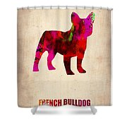 French Bulldog Poster Shower Curtain by Naxart Studio