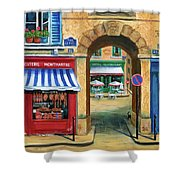 French Butcher Shop Shower Curtain