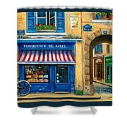 French Cheese Shop Shower Curtain