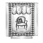 French Country Fauteuil Shower Curtain