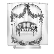 French Country Sofa Shower Curtain